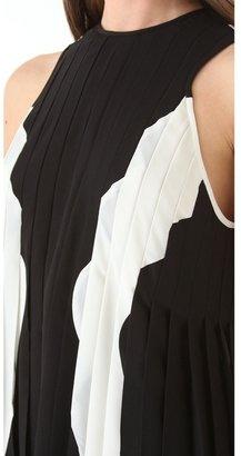 Dion Lee Line Inset Pleat Dress