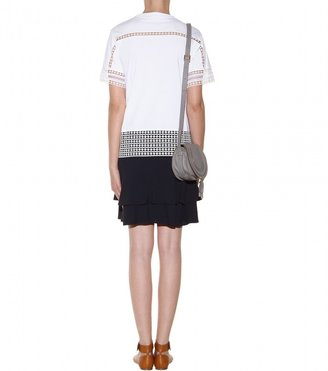 Chloé Crepe skirt with ruffles