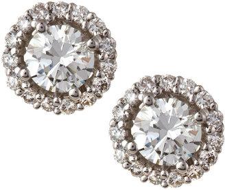 KC Designs Diamond Halo Stud Earrings, 1.25
