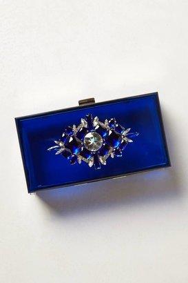 Anthropologie Cobalt Lucite Box Clutch