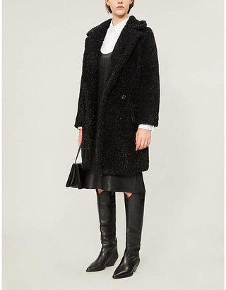 Max Mara Lastra glittered faux-fur coat