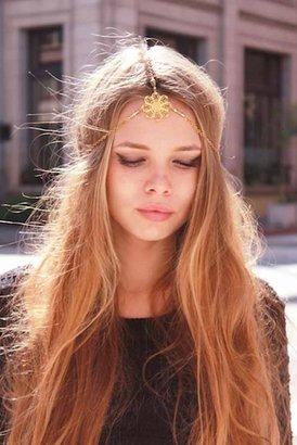 Hard Couture Bella Fiona Headpiece in Gold