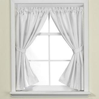 Bed Bath & Beyond Westerly White Bathroom Window Curtain Pair