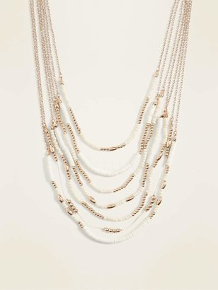 Old Navy Beaded Multi-Strand Statement Necklace for Women