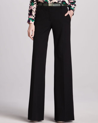 M Missoni Wide-Leg Stretch-Wool Pants