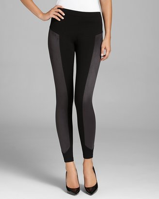 C&C California by Stephanie Leggings - Ponte and Faux Suede