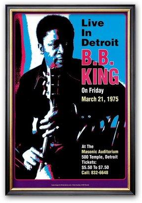 """Art.com B. B. King - Live in Detroit"""" Framed Art Print by Dennis Loren"""