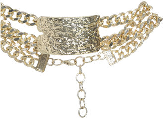 Arden B Hammered Choker Necklace