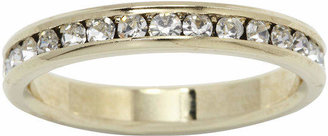 SPARKLE ALLURE city x city Gold-tone Crystal Eternity Band