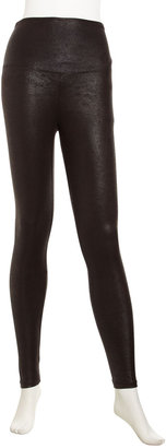 Yummie Tummie Jade Faux-Leather Leggings, Black