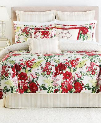 Martha Stewart CLOSEOUT! Collection Lush Blossom 3 Piece Decorative Pillow Set