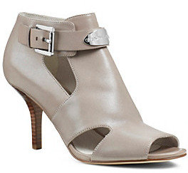 "MICHAEL Michael Kors Plate"" Stacked-Heel Peep-toe Shoes"