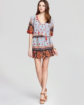 Plenty by Tracy Reese Quotation Dress - Scarf Print Peasant
