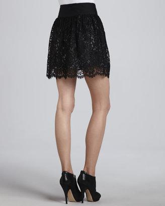 Milly Margaret Black Lace Skirt