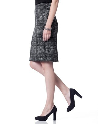 Coldwater Creek Checked pencil skirt