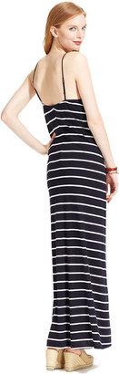 Tommy Hilfiger Spaghetti-Strap Striped Maxi Dress