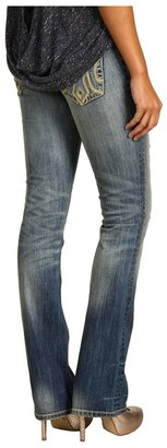 MEK Oaxaca Slim Bootcut Jean in Medium Blue Distress (Medium Blue Distress) - Apparel