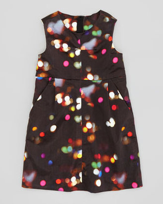 Milly Minis City Lights Print Sleeveless Dress, Sizes 2-6