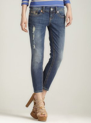 7 For All Mankind Seven7 Skinny Jean, Blue Distressed