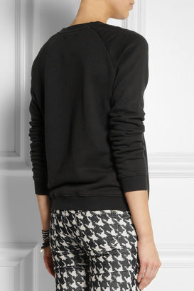 Zoe Karssen Cotton-blend jersey sweatshirt