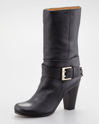 Chloé Buckled Ankle-Wrap Boot