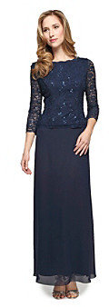 Alex Evenings Lace Bodice Dress