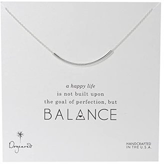 Dogeared Balance Tube Necklace Sterling (Silver) Necklace