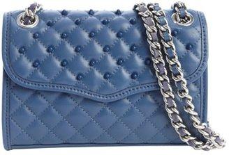 Rebecca Minkoff denim quilted leather studded detail 'Mini Affair' shoulder bag