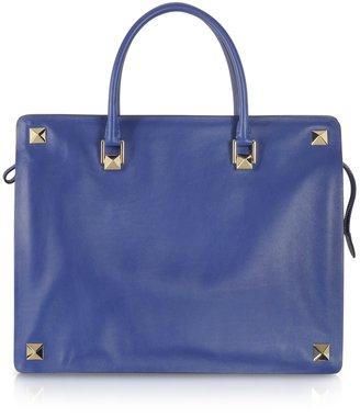 Valentino Blue China Leather Tote