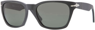 Persol Square Plastic Sunglasses, Black
