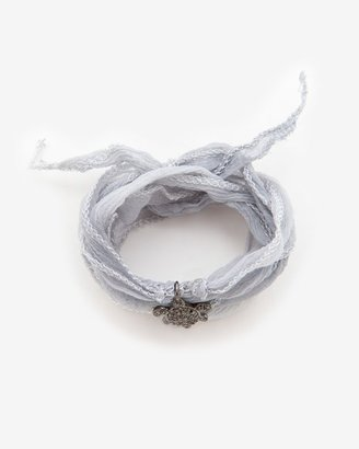 Momentz Monte-carlo Silk Ribbon Turtle Charm Wrap Bracelet