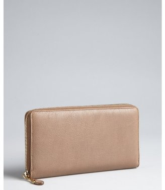 Yves Saint Laurent brown leather 'Chyc' zip continental wallet