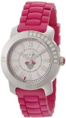 Juicy Couture Women's 1900545 BFF Hot Pink Jelly Strap Watch $158.54 thestylecure.com