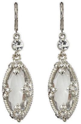 Fragments for Neiman Marcus Clear Oval-Drop Earrings, Silvertone