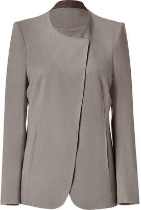 Helmut Lang Limestone Assymetric Jacket