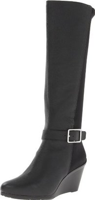 Calvin Klein Women's Taya Leather Slouch Boot
