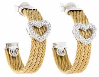 Charriol Classique Diamond Heart Earrings Yellow Classique Diamond Heart Earrings