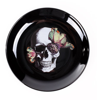 D.L. & Co. Blooming Skull Plates Set Of 4