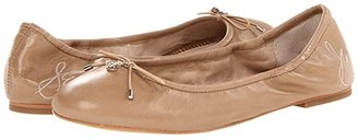 Sam Edelman Felicia (Sand/Summer Sand Cala Chevron Weave/Butter Nappa Leather) Women's Flat Shoes