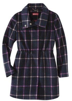 Merona Women's Long Plaid Topper Coat -Xavier