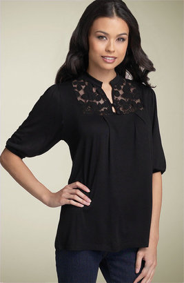 Olivia Moon Lace Inset Top
