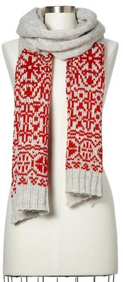 Gap Reverse Fair Isle scarf