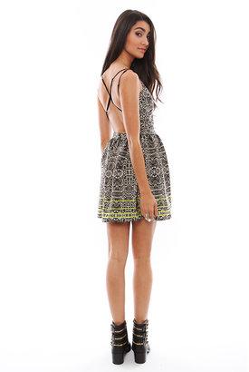 Dolce Vita DV Hanni Highlighted Snake Cross Back Dress in Multi Print