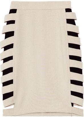 Yigal Azrouel Cutout woven skirt