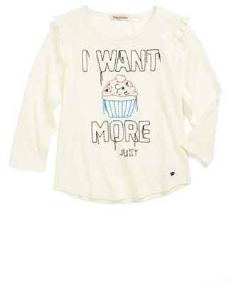 Juicy Couture 'I Want More' Tee (Little Girls & Big Girls)