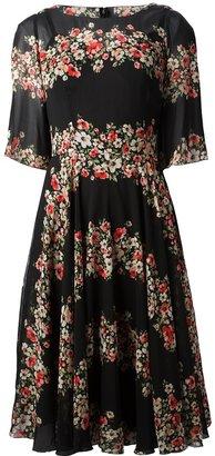 Dolce & Gabbana floral panel dress