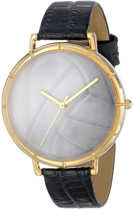 Whimsical Watches Women's N0840015 Volleyball Lover Black Leather And Goldtone Photo Watch
