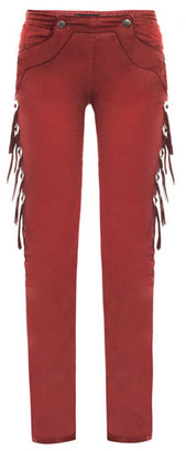 Isabel Marant Riley coated mid-rise skinny jeans