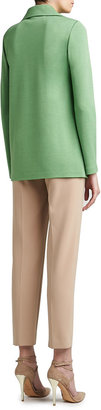 St. John Milano Knit Full Cut Topper with Rounded Collar and Pockets