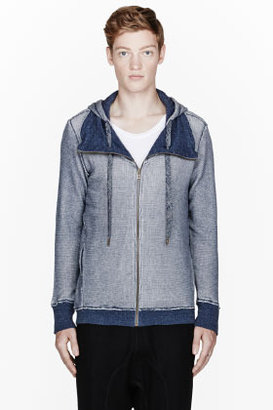 Diesel Navy spotted SMUSA-S hooded sweater